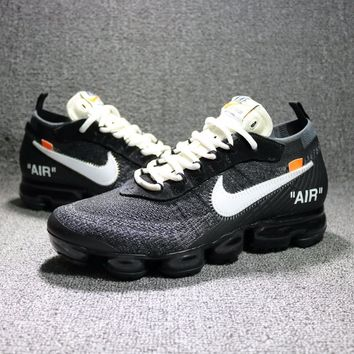 Best Online Sale OFF-WHITE c/o VIRGIL ABLOH × NIKE AIR VAPORMAX FLYKNIT Sport Shoes SWOOSH AA3831-001