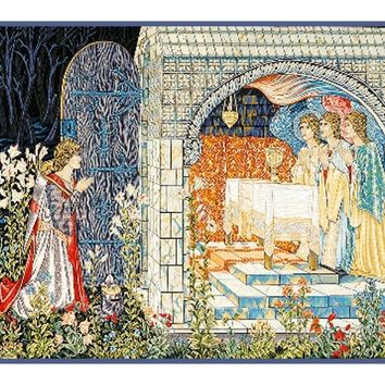 Quest Holy Grail Tapestries detail William Morris Counted Cross Stitch or Counted Needlepoint Pattern