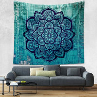 Drop Shipping Indian Bohemian Mandala Tapestry Wall Hanging Sandy Beach Picnic Throw Rug Blanket Camping Tent Travel Mattress