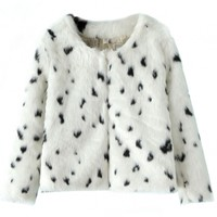 White Faux Fur Coat - OASAP.com