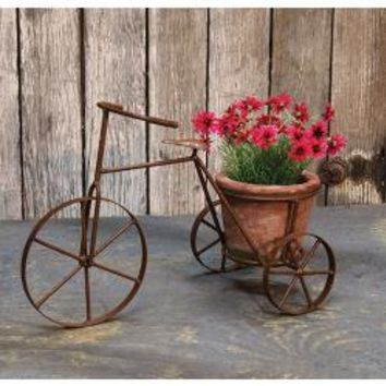 "Tricycle w/Terra Cotta Planter, 13"" - *FREE SHIPPING*"