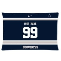 NEW Custom Dallas Cowboys Football Pillowcase With Your Name and Numbers
