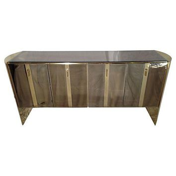 Pre-owned Mirrored Credenza Attributed to Ello