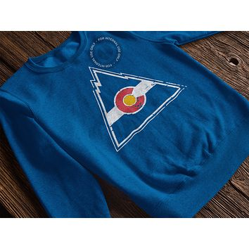 Colorado Rockies Hockey Inspired Crewneck Pullover Sweatshirt