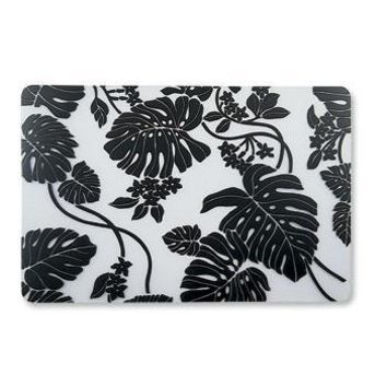 """Monstera Black"" Translucent Placemat"