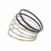 Mixed Metal Bangle Pack - Mixed Metal