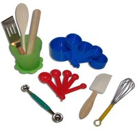 Sassafras Little Cook Children's Kitchen Tools in Herb Pot Gift Set