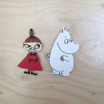 Little My and Moomintroll brooch