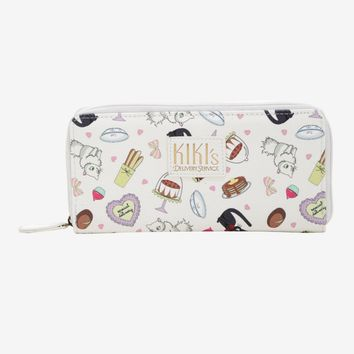 Licensed cool Studio Ghibli Kiki's Delivery Service JIJI LILLY Bakery Icons Zip Around Wallet