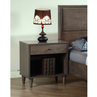 Vilas Light  Charcoal  Nightstand | Overstock.com