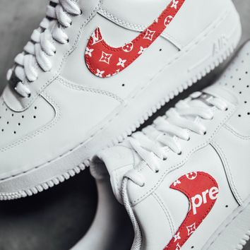 Nike x Louis Vuitton Custom AF1 Low With White Sneakers