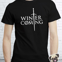 Big Sale on Game Of Thrones Inspired Winter Is Coming Stark T-shirt