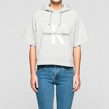 RE-ISSUE CROPPED HOODIE WITH LOGO Calvin Klein | Official Site and Online Store