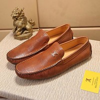 LV Louis Vuitton Men Fashion Cool Edgy Casual Shoes Best Quality brown