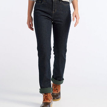 Women's True Shape Jeans, Classic Fit Straight-Leg Fleece-Lined | Free Shipping at L.L.Bean.