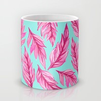Fuchsia Leaves Mug by Lisa Argyropoulos | Society6