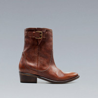 COWBOY ANKLE BOOT - Shoes - TRF - ZARA Ireland