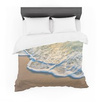 "Susan Sanders ""Ocean Beach Water"" Blue Teal Photography Featherweight Duvet Cover"