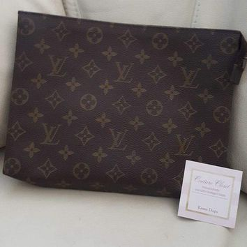 authentic Louis Vuitton vintage monogram toiletry 26 makeup pouch clutch