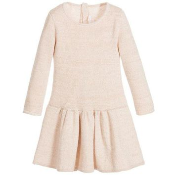 NOV9O2 Chloe Baby Girls Ros¨¦ Pink Knitted Dress