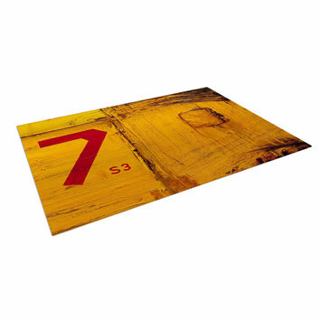 "Steve Dix ""7S3"" Yellow Painting Indoor / Outdoor Floor Mat"
