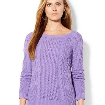 Lauren Ralph Lauren Aran Knit Sweater