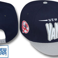 Yankees '2T DOPETASTIC SNAPBACK' Navy-Grey Hat by New Era made by New Era for New York Yankees in MLB - Major League Baseball at hatland.com