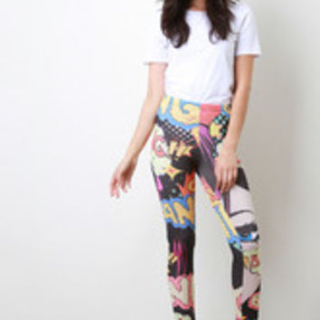 Comic Bang Leggings