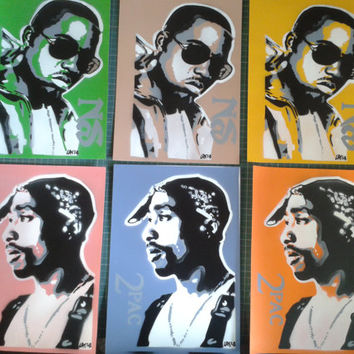 Nas stencil painting on card,spray paints,hip hop,urban art,rap music,new york,queens,original,affordable,sun glasses,pop,escobar,hand made