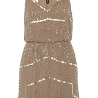 W118 by Walter Baker Destiny bead-embellished chiffon dress – 55% at THE OUTNET.COM