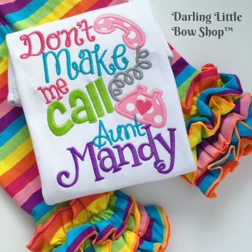 Don't Make Me Call Grandma! or you CHOOSE another name -- fun gift shirt for babies and toddler girls -- aunt, auntie, uncle, mimi, etc