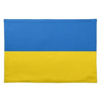 Ukraine Flag on MoJo Placemat