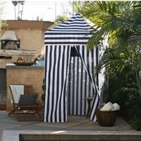Apontus Pop Up Changing Tent Cabana, Navy White Stripes