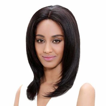 Brazilian Remy Human Hair Straight Long Lace Front Wigs