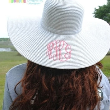 39192376bed Best Monogrammed Floppy Hat Products on Wanelo