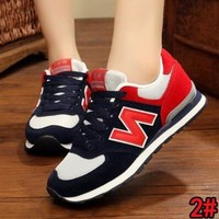 """""""New Balance"""" Fashion Women Men Casual All-Match N Words Sport Breathable Couple Sneakers Shoes 2#"""