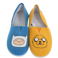 Adventure Time Finn Jake Slip-On Shoes