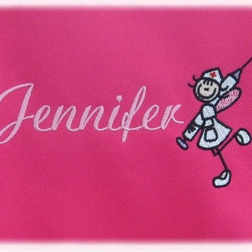 Personalized Monogrammed Nurse Fairy Tote Bag Handbag RN CNA Student Graduate Great Gift