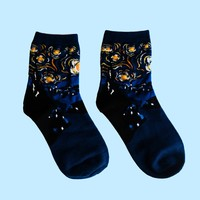 Vincent van Gogh's Starry Night Socks | Short