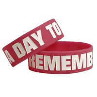 A Day To Remember: A Day To Remember Logo Pink Bracelet