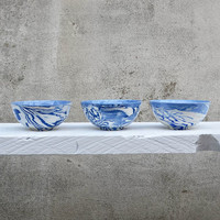 Blue And White Ceramic Soup Cereal Bowl
