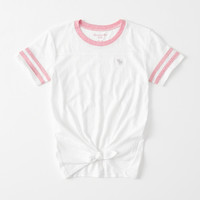 girls Sporty Tie-Front Tee | girls tops | Abercrombie.com