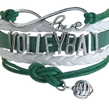 Volleyball Bracelet - Green White