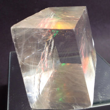 Iceland Spar Optical Calcite Gorgeous Crystal 2 inches by 1.25 inches Viking Prediction Stone, symbolizes True Love, brings friendship peace