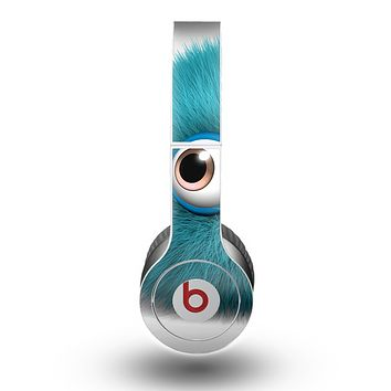 The Teal Fuzzy Wuzzy Skin for the Beats by Dre Original Solo-Solo HD Headphones