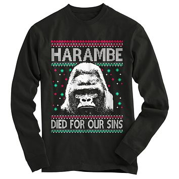Harambe Ugly Christmas Sweater-On Sale