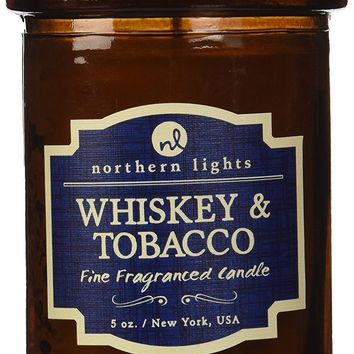 Northern Lights Candles: Spirits Jars-Whiskey & Tobacco