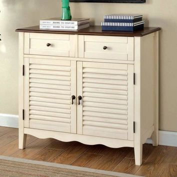 Oleida Transitional Cabinet, Vintage White