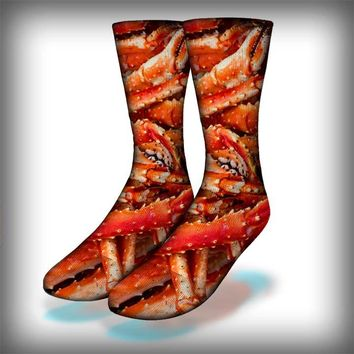Crab Legs Crew Socks Novelty Streetwear
