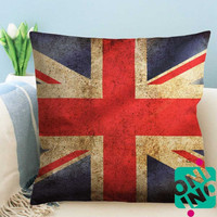 UK Dirty Flag Zippered Pillow Case, Cushion Case, Pillow case